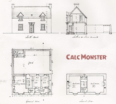 How to calculate square footage calc monster - Calculate square footage of house concept ...