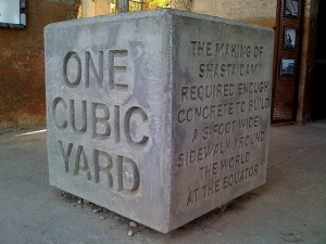 What is a cubic yard?